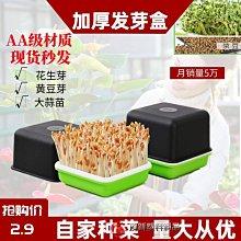 育苗神器 蔬菜發芽盤/營養缽豆芽盒花生芽水培盒無水栽培苗菜托盤-888利是鋪