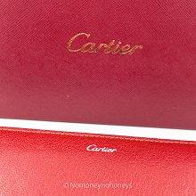 【全新】Cartier 卡地亞 ENVELOP 紅色拉鍊皮長夾 全新真品 附保卡