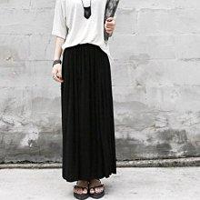 長裙四季款百褶裙 高雅簡約純色鬆緊腰百摺長裙 艾爾莎【TAE3514】