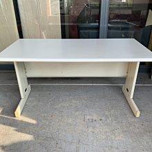 香榭二手家具*灰白面HU140cm 辦公桌-業務桌-會議桌-會計桌-電腦桌-工作桌-OA鐵桌-事務桌-洽談桌-書桌-中古