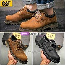 正品CAT卡特男鞋低幫工裝鞋牛皮革日常休閒鞋固特異工作鞋P717802