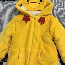 秋冬款厚實超萌小雞法蘭絨棉質外套 咕咕雞裝 黃色90(洗嘴巴那有點起毛球不介意在下標)
