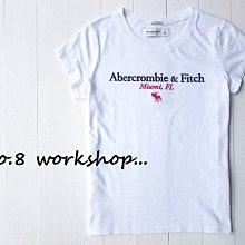 【A&F女生館】☆【Abercrombie麋鹿LOGO刺繡短袖T恤】☆【AFG002R4】(XS-S-M)4/19