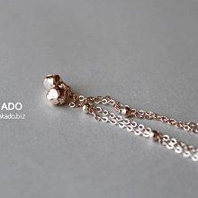 玫瑰金腳鏈-阪堂SAKADO-韓版設計師款--小鈴鐺