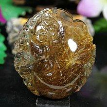 孟宸水晶 = S514 (如意100%天然紅銅鈦晶雕刻墜39.8克)