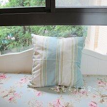 【遇見美好雜貨】A50604 美式鄉村風水藍條紋抱枕套45cm X 45cm /不含枕心