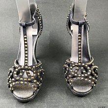 [我是寶琪] SONIA RYKIEL 水鑽高跟涼鞋