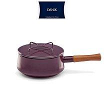 北歐丹麥DANSK 2200ml  含蓋 木柄 梅紅色  kobenstyle 琺瑯鍋 手鍋 醬汁鍋 奶油鍋 湯鍋