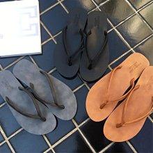 新品搶先看-歐美時髦 暗黑最愛 質感好 簡約 超級百搭 平底 基本款 男女 海灘 渡假 夾腳拖鞋/涼鞋 黑/灰/棕/白