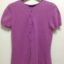 Theme 漂亮紫紅色 50%小羊毛 40%安哥拉毛 短袖毛衣外套 40號