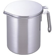 [霜兔小舖]日本代購 日本製 下村企販 18-8不銹鋼 二重瀝油壺 活性碳瀝油壺 0.6L