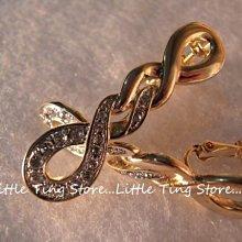 Little Ting Store:施華洛世奇 情人生日禮物長麻花垂吊耳環水晶水鑽夾式耳環貼耳飾