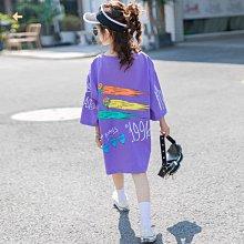 小圖藤童裝~~~中大童~~~女童中長款t恤夏2021新款潮夏装短袖(A2651)