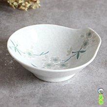 日本進口陶瓷餐具白繪變櫻花帶把調味碟缽醬料小碟子醋碟蒜泥碟