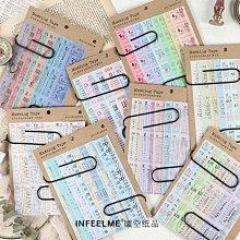 舊車票 復古手帳日記裝飾 手帳素材做舊票據 組合貼紙套裝