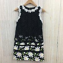 【愛莎&嵐】SO NICE 女 黑色雕花洋裝 / S (有口袋) 1100915