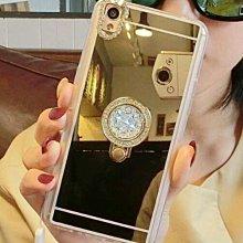 OPPO R9S Plus (R9S+) 鏡面 軟殼 水鑽 愛心 指環扣 支架 防摔 手機殼 軟殼 手機保護殼