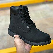 正品防水男鞋timberland添柏嵐 經典全黑 靴子10073男靴女靴頭層高幫防水保暖靴35-45