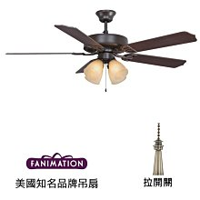 Fanimation Aire Decor 52英吋吊扇附燈(BP210OB1)油銅色 適用於110V電壓