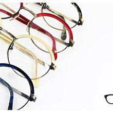 【My Eyes 瞳言瞳語】BADA GRACE 復古懷舊眉型圓框光學眼鏡 眉框設計 個人風采不遮掩 (BA757)