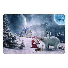 〈亮晶細沙 卡貼 貼紙〉聖誕節 北極熊 聖誕老人 下雪 雪地 christmas  貼紙 悠遊卡貼紙
