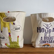 MH 日本雜貨 Andgraphic 日本製 厚 帆布 方形 易攜帶 手提 書袋
