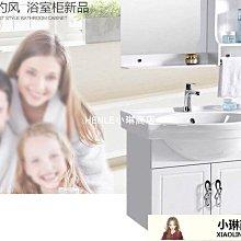 浴櫃 簡約浴室櫃組合小戶型洗手盆吊櫃衛生間陶瓷洗臉洗漱台衛浴櫃pvcDF-LE小琳商店
