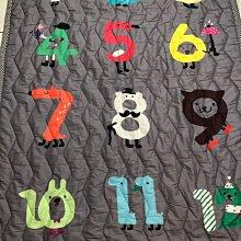 嬰幼兒韓國數字動物地墊200*150 (9成新)  背面防滑材質