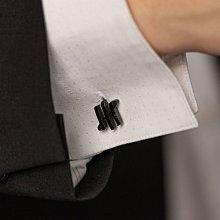 Montegrappa 萬特佳 AMBIGRAM Cufflinks Triple pillars 黑色 袖扣 IDA2