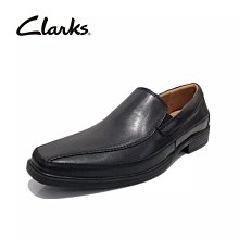 活動促銷 正品clarks其樂男鞋正裝商務皮鞋牛皮低幫舒適套腳男單鞋Tilden Fre黑色39-44