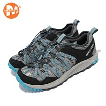 丹大戶外【MERRELL】戶外鞋 女鞋 彈性 支撐 內嵌式避震墊片 耐磨 抓地 灰 藍 ML036158 布鞋│健行鞋