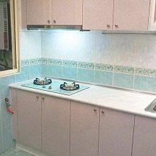 廚具流理台 卉誠廚具:美耐枱面,美耐門板含三機 ~ 完工價 $36400