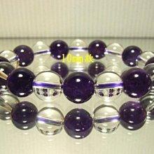 小風鈴~天然高檔白水晶搭配10mm紫水晶手鍊~助學業.招貴人(還有12mm款式)