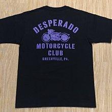 日本製The Real McCoy's BUCO DESPERADO MOTORCYCLE 骷髏重機車風格 黑色滾筒短T