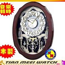 【天美鐘錶店家直營】【下殺↘超低價有保固】RHYTHM 麗聲Swarovski 水晶音樂鐘-4MH890WD06