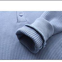 NO.108童衣著【上衣4色】新款 男童90~150cm 圓領半開襟素面坑條紋長袖上衣 圓領長袖T恤