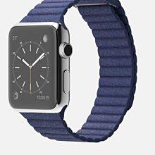 ^_^東京直遞 apple watch 42mm不鏽鋼版 皮革錶環 深藍色皮革磁扣錶帶 20000元就賣