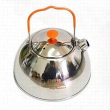 【不鏽鋼燒水壺-BRS-TS07-1.1L-不鏽鋼-直徑15.3*高11cm-1套/組】戶外露營便攜式食品級-76007