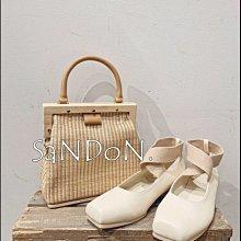 SaNDoN x『MOUSSY』夏季新品 復古芭蕾舞伶交叉設計法式感平底鞋 210403
