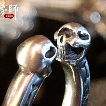 造夢師 手工訂製【Stop Light 高山隆】【復刻】復古做舊 銀骷髏戒指 925純銀 戒指