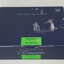 SONY D-E660 整套含盒-20周年限定款-美品-良品