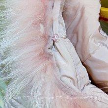 【莉莎小屋】正韓 秋冬新品(現貨-粉色 88) 💝接毛毛帽長版鋪棉腰身質感外套 B&K 👚👖TS201110