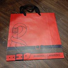 現貨 Roberta di Camerino 專櫃精品紙袋 經典紅 禮物袋 經典LOGO 尺寸32*32*12CM 無汙損 狀況如照片 可與其他紙袋合併運費