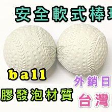 【綠色大地】台灣製 安全軟式棒球 A ball 單顆售 橡膠發泡 外銷日本 軟式棒球 兒童棒球 安全棒球 九宮格 棒球