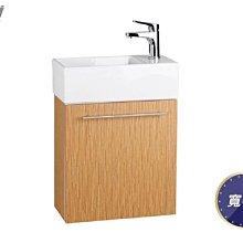【HS磁磚衛浴生活館】一太衛浴精巧木紋單開浴櫃組亮咖邊間小空間超合適 瓷盆+浴櫃EC-9048A
