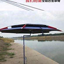 金威釣傘雙彎加固2.4防雨防曬遮陽萬向雙層黑膠大釣傘釣魚傘