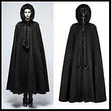 *MINI PUNK LOLO*黑暗哥德傳說-月下的古堡曼特寧夫人暗紋蕾絲雕花毛絨連帽披肩斗篷(Y-790)GOTHIC