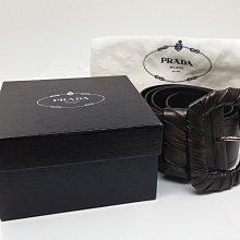 Prada 皮帶, 鐵灰金 (古銅) 色, 101 專櫃購買,只用過一次, 近九成新, 原價 18000 便宜賣