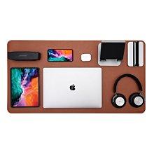 Jokitech 桌墊 辦公桌墊 加大加寬防滑PU皮革多功能滑鼠桌墊 電腦桌墊 85x45cm