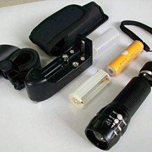 POKO公司貨簡配組!橘黃光&藍光 CREE Q5魚眼戰術手電筒 4號電池適用 消防、警察單位 歡迎團購!